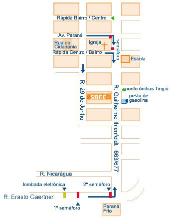 Mapa para chegar à SBEE